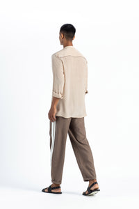 Patch Pocket Shirt- Nude