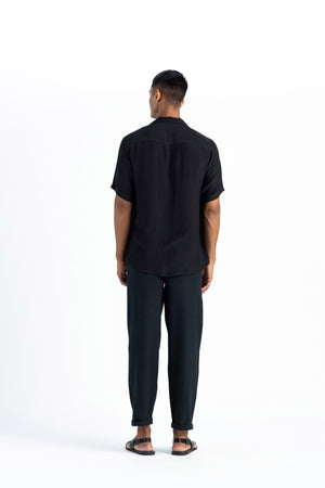 Pleated Pant-Black