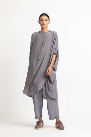 Bat Sleeve Shirt- Grey