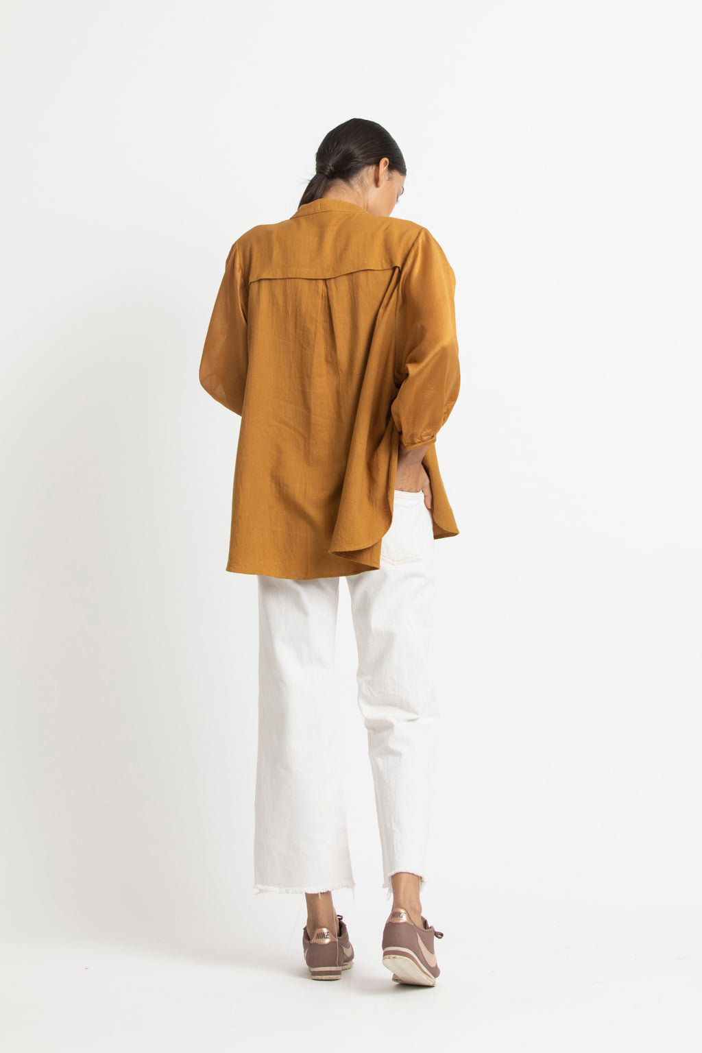 Balloon Sleeve Top- Mustard