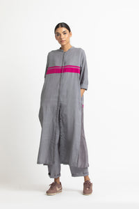 Back Pleat Jacket Co ord- Grey