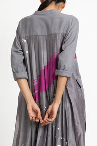 Back Pleat Jacket- Grey