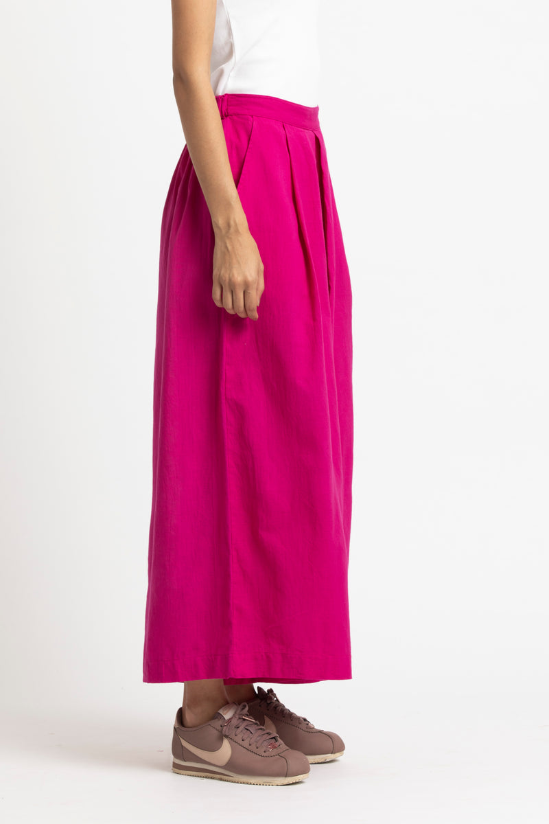 Two Pleat Pant-Fuschia