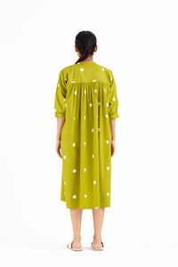 Pleat Dress- Lime