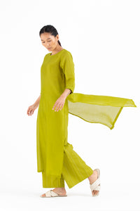 Round Neck Tunic- Lime
