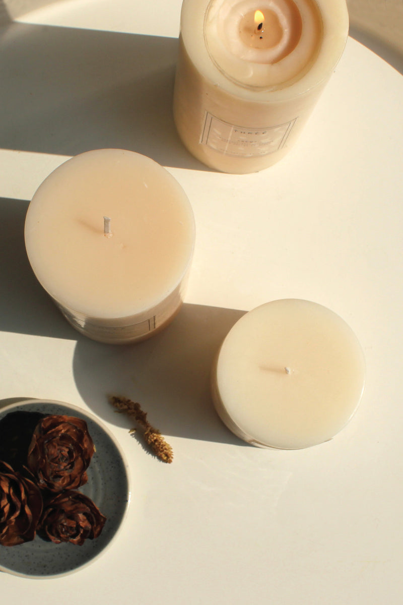 Pillar Candle- Dew (Shipping only in India)