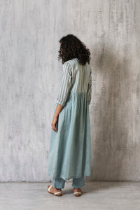 Side Gather Jacket- Cloudless blue