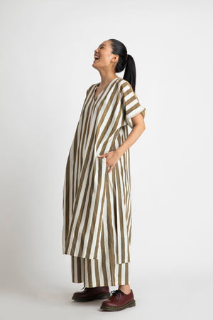 V Neck Kaftan co-ord- Sage