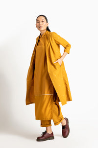 Wrap-Collar Overlay Co ord (Set of 3)- Tuscany Yellow