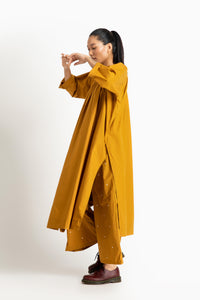 Gather Neck Shirt Co ord- Tuscany Yellow
