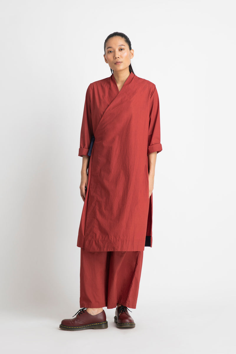 Side Knot Jacket Co-ord-Madder Red