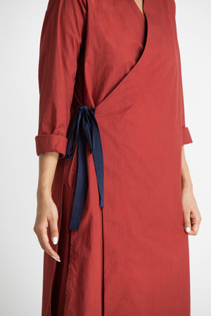 Side Knot Jacket- Madder Red