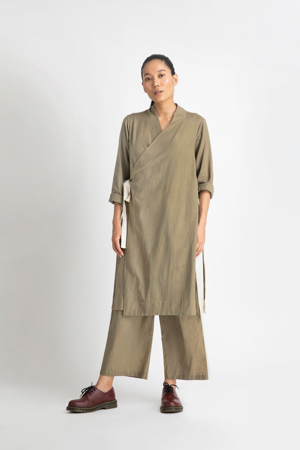 Side Knot Jacket Co-ord- Sage