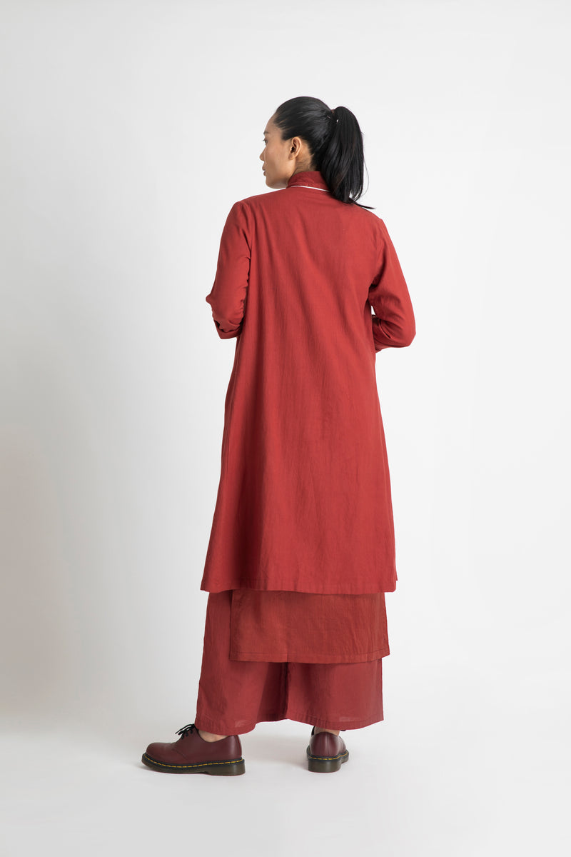 Wrap Collar Overlay- Madder Red