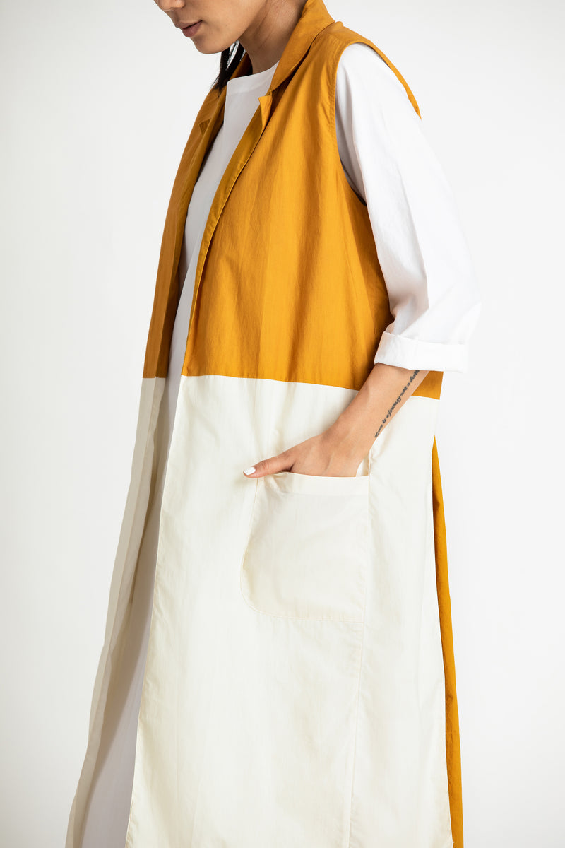 Back U Gather Jacket Co-ord- Tuscany Yellow Ivory