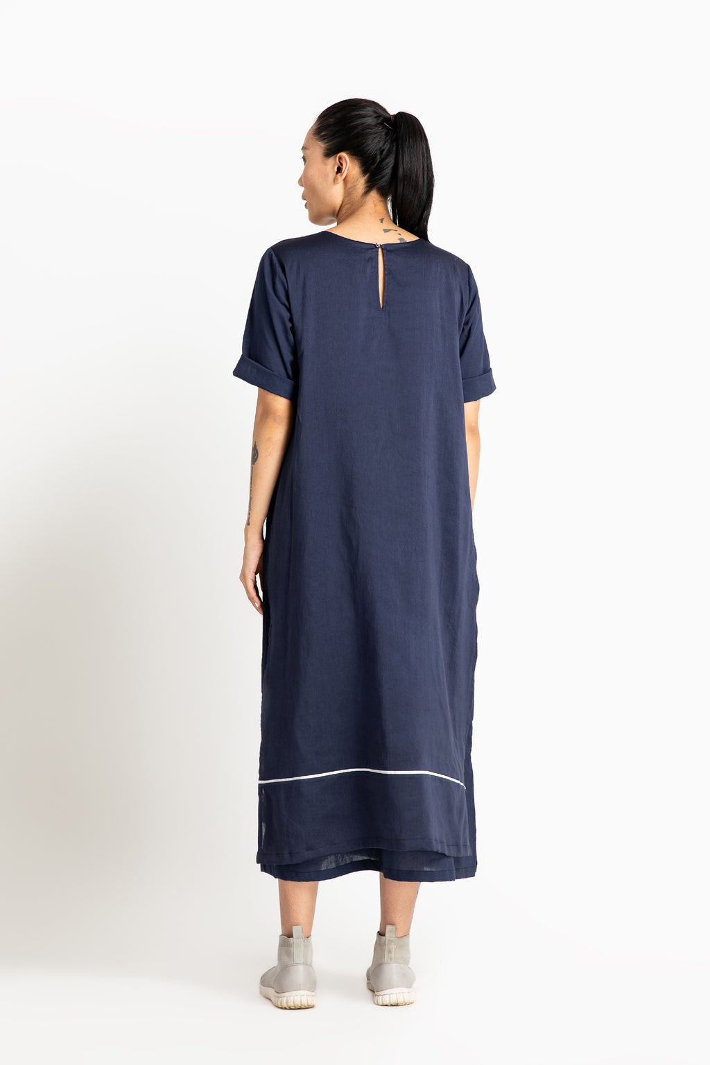 Double Layer Dress- Navy