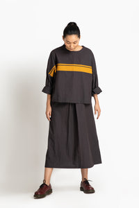 V Neck Slip Co ord- Charcoal