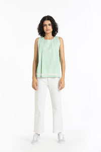 Two pleat top-Mint