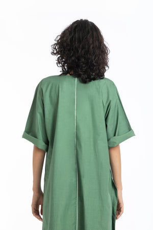 U Shaped hem tunic-Fern