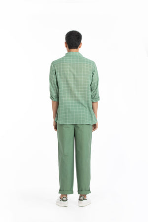 Patch Pocket Shirt- Fern check