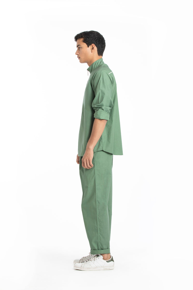 Pleated Pant- Fern