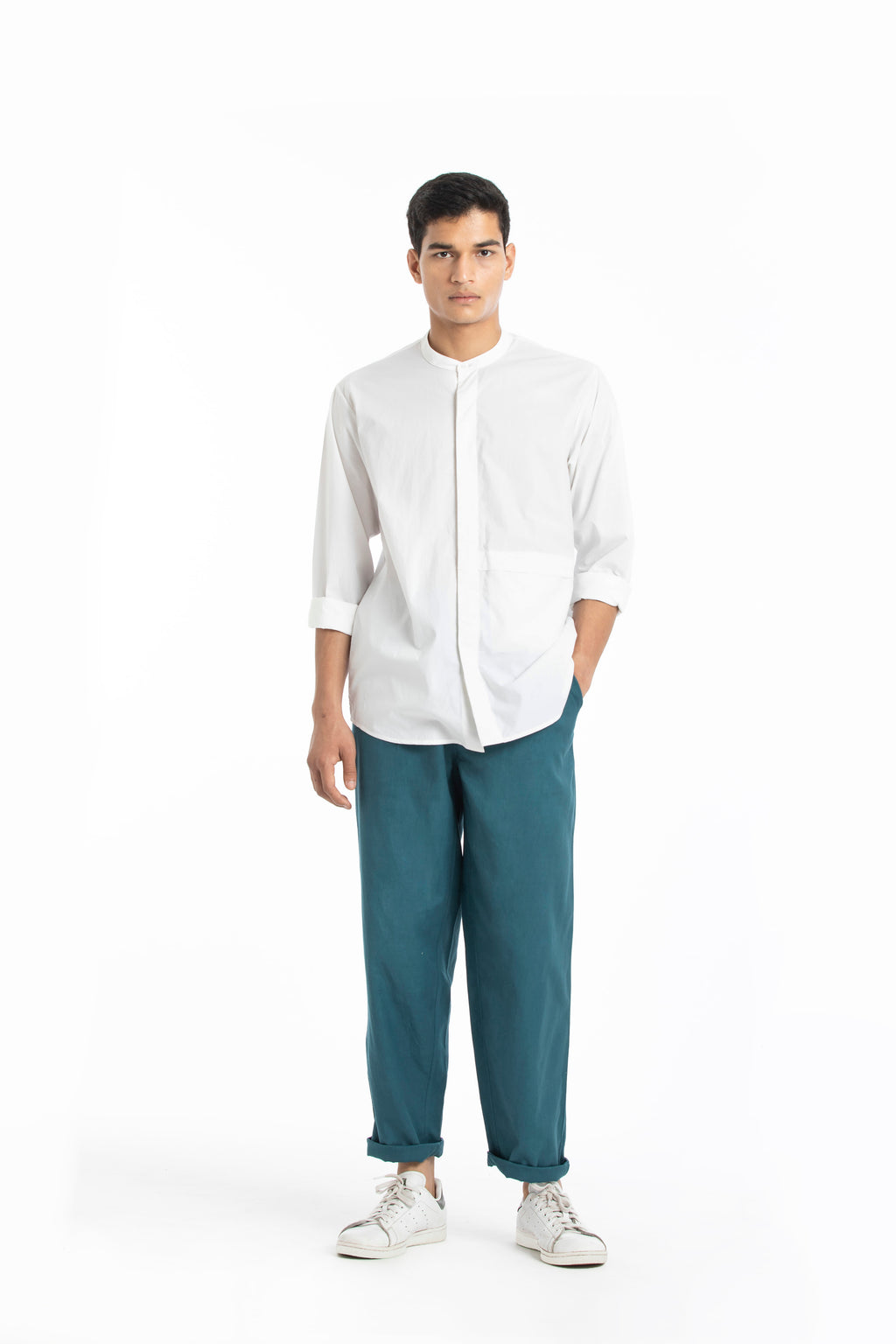 Front Pocket Shirt- White