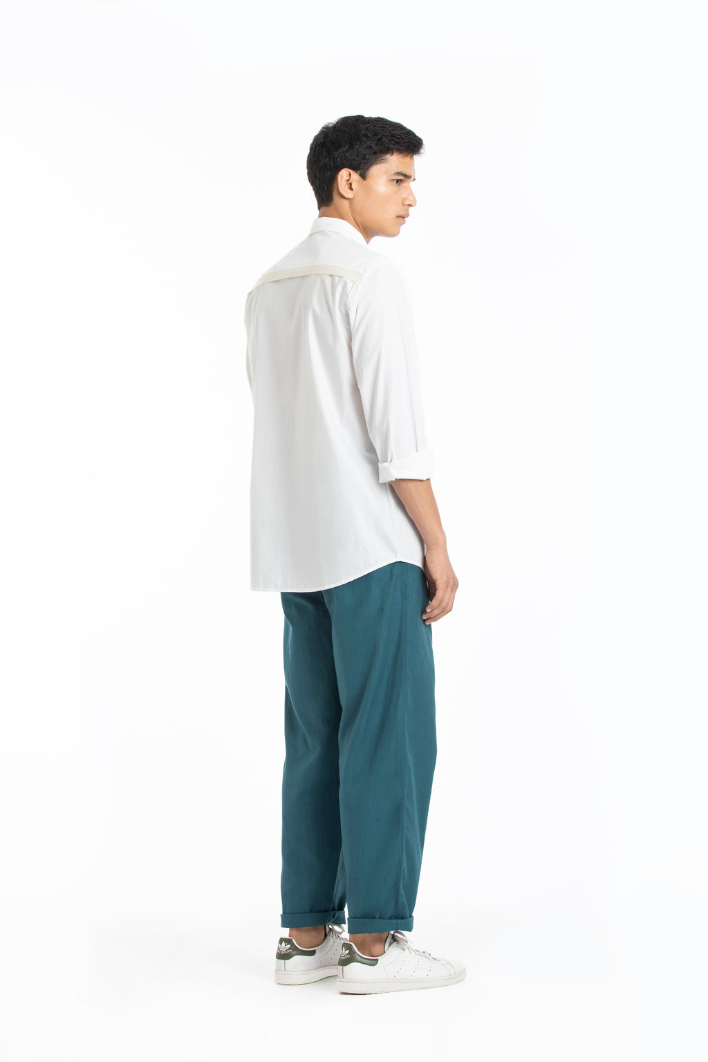 Flap Pocket Shirt- White