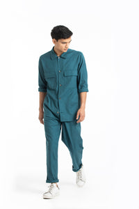 Patch Pocket Shirt Co-ord- Teal