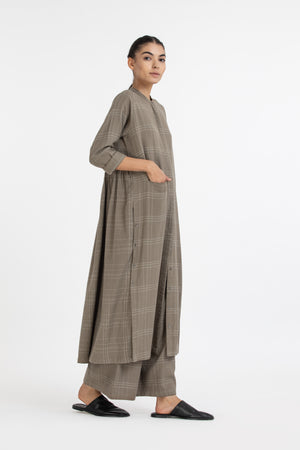 Back Gather Jacket- Terra check
