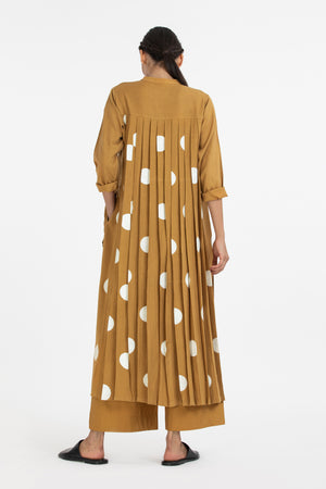 Back Pleat Jacket Co-ord-Mustard