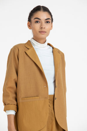 Short Jacket Co-ord- Mustard