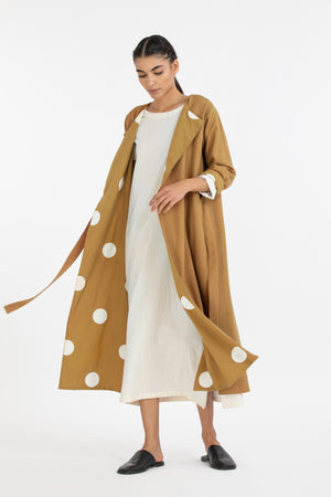 Side tie trench co-ord- Mustard