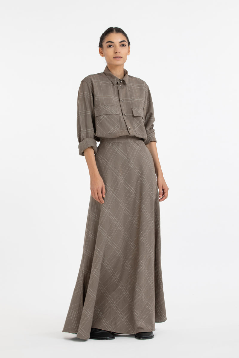 Patch Pocket Shirt co-ord-Terra Check