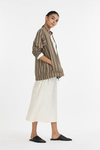 Bomber Jacket Co-ord-Terra Stripe