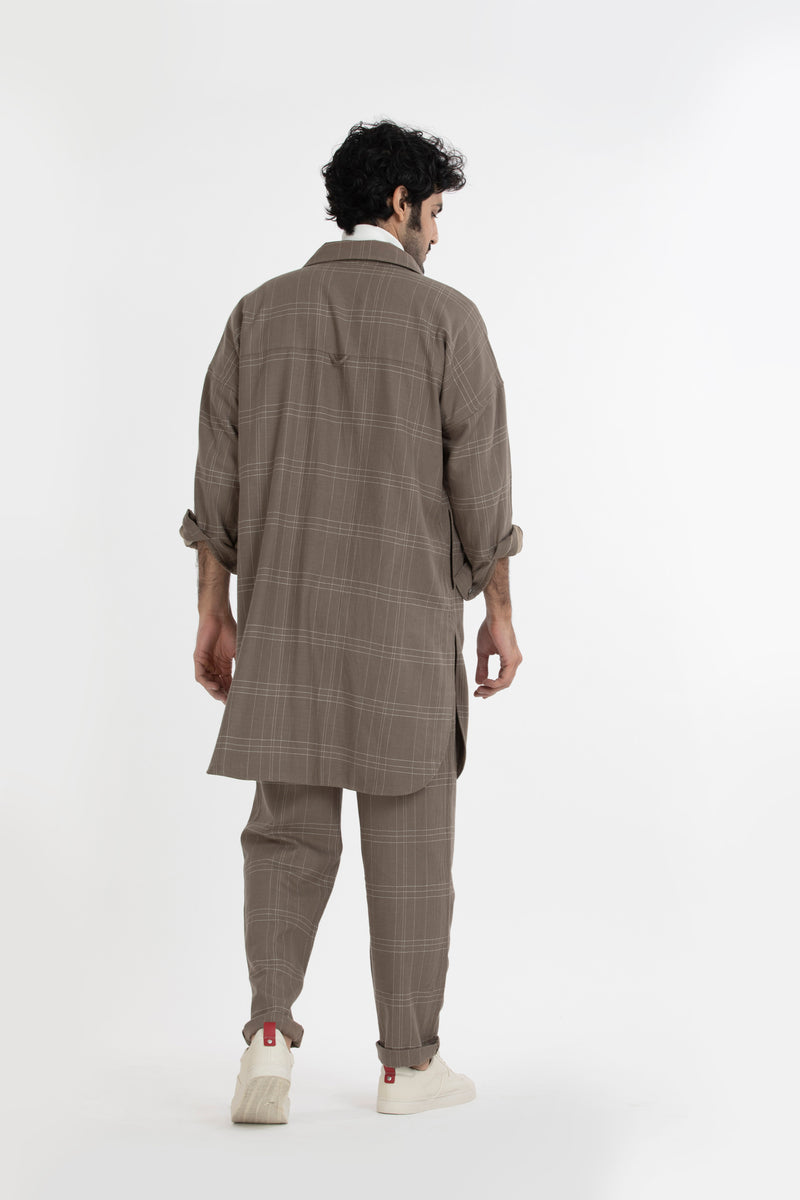 U Hem Jacket Co-ord- Terra Check