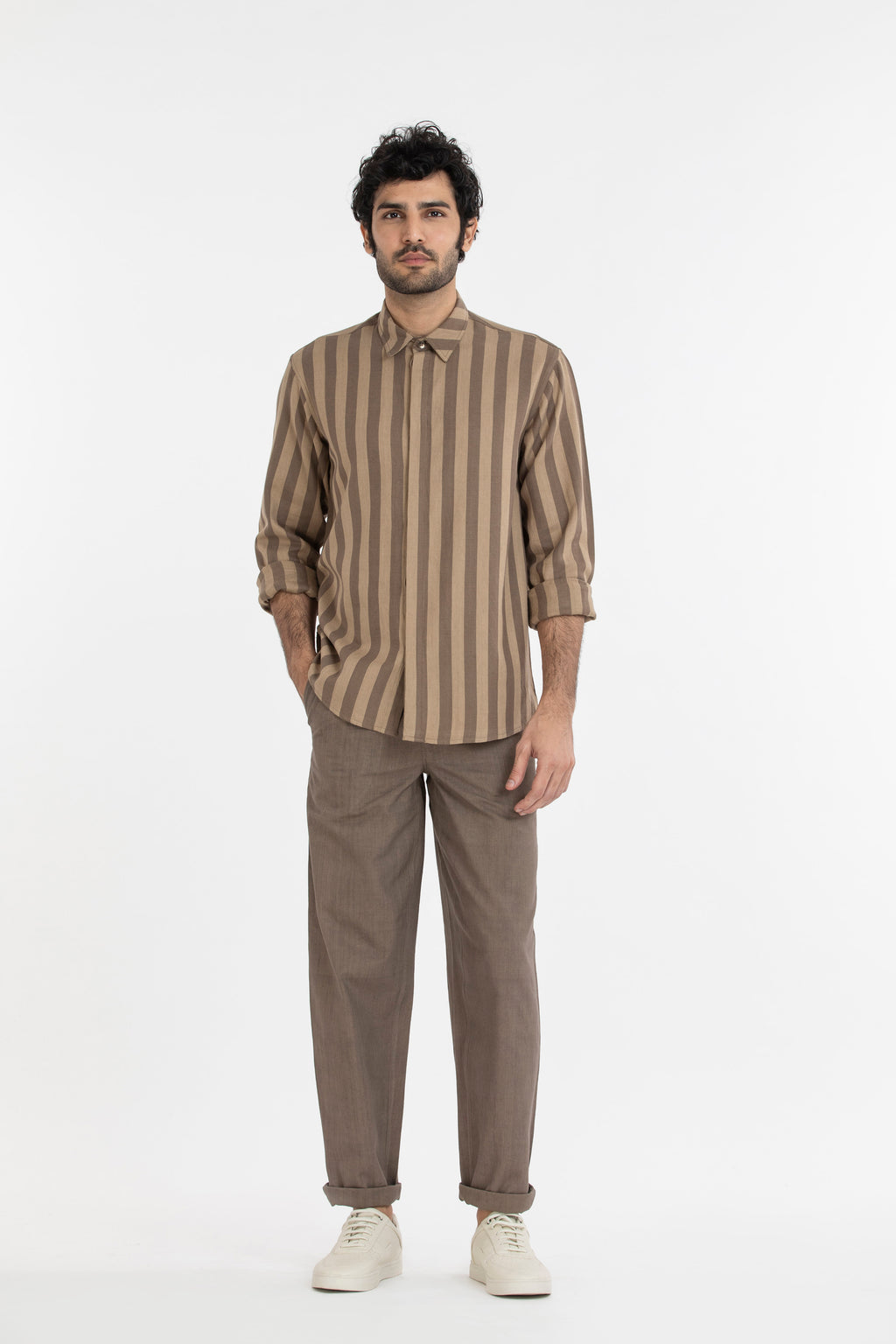 Basic Shirt- Terra Stripe