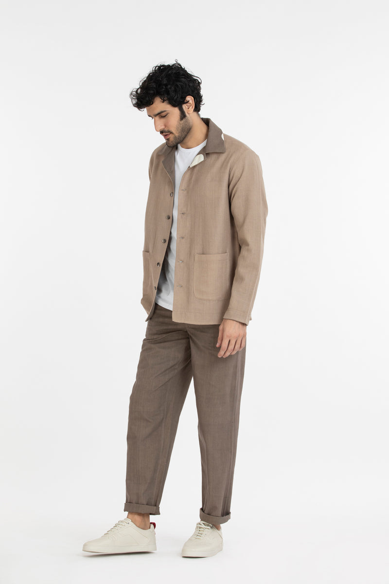 Reversible Shirt Co-ord- Sand