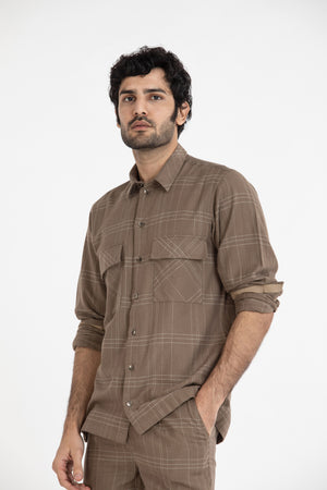 Patch Pocket Shirt- Terra