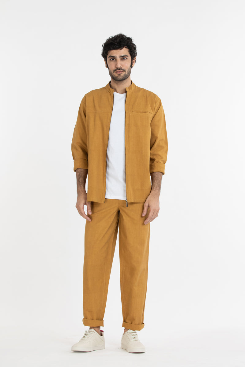 Shacket Co-ord- Mustard