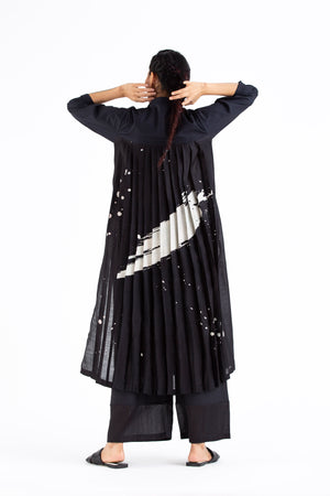 Back Pleat Jacket Co-ord-Black