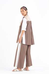 High Waist Pant Side Stripe- Cedar