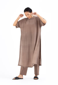 Drop Shoulder Kurta Co ord- Cedar