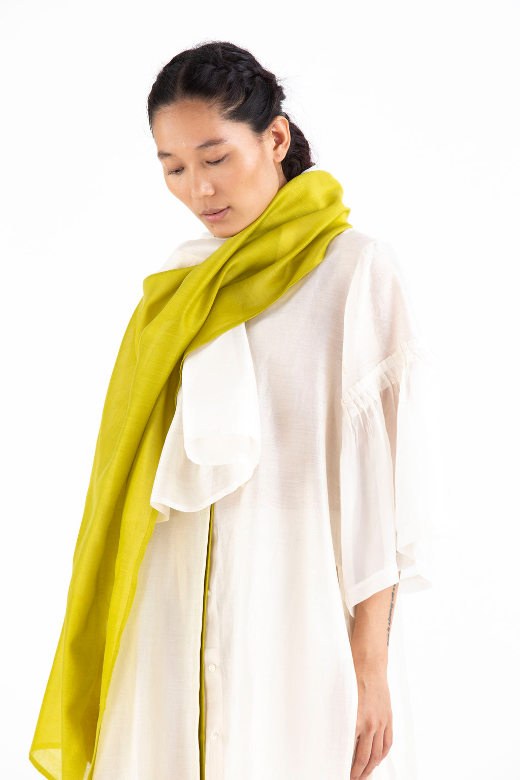 Scarf-Ivory/Lime