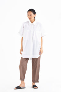 Patch Pocket Shirt- White