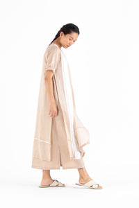 Double Layer Dress- Nude