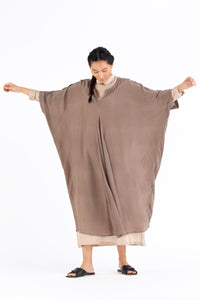 V Neck Kaftan Co-ord- Cedar