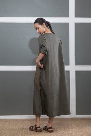 Triangle Dress- Dark Olive