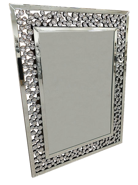 Rectangle Bubble Crystal Frame Wall Mirror Am008 Sassyhome