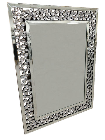 Rectangle Bubble Crystal Frame Wall Mirror - AM008