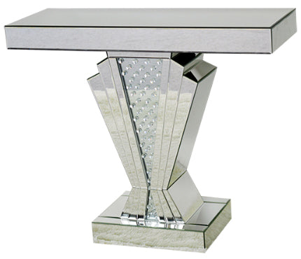 Art Deco Crystal Decor Mirrored Console Table Cd058
